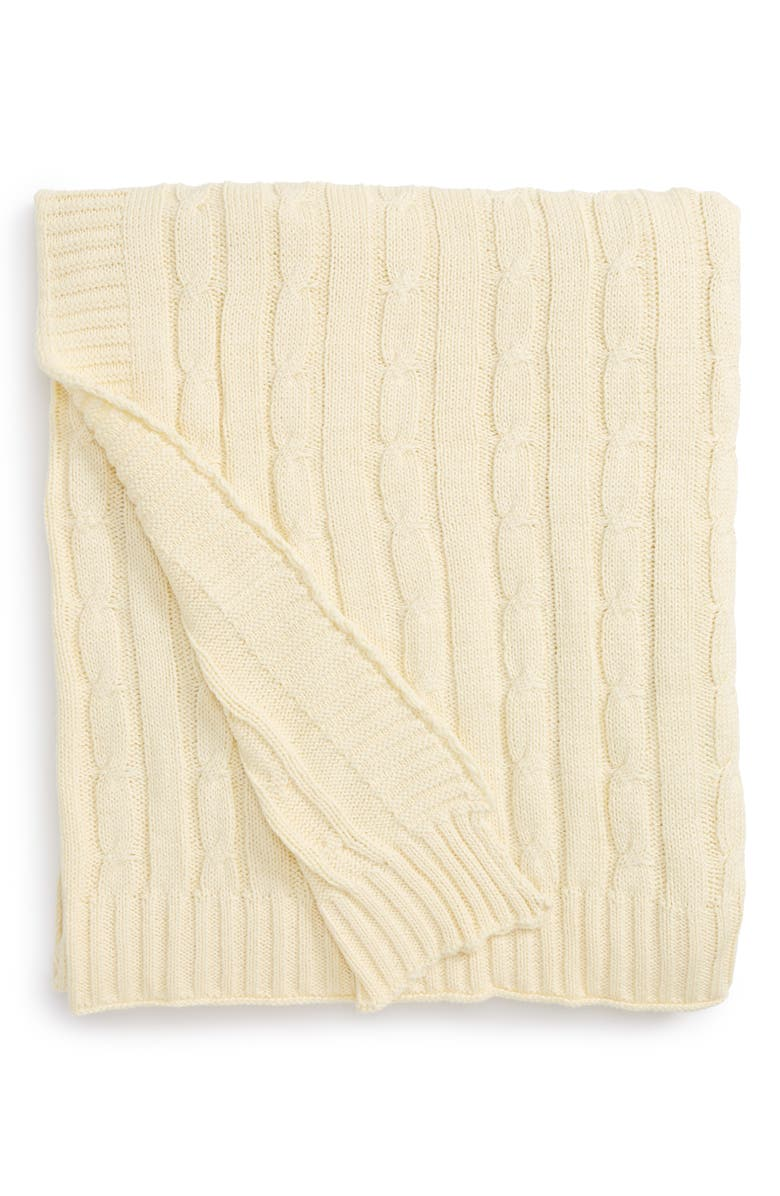 RIZZY HOME Cable Knit Cotton Throw, Main, color, 270