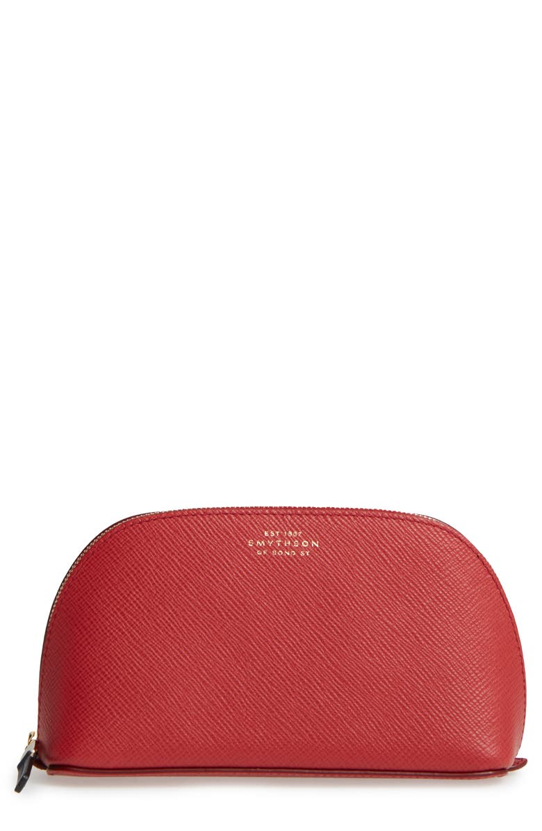 SMYTHSON Small Calfskin Leather Cosmetics Case, Main, color, 600