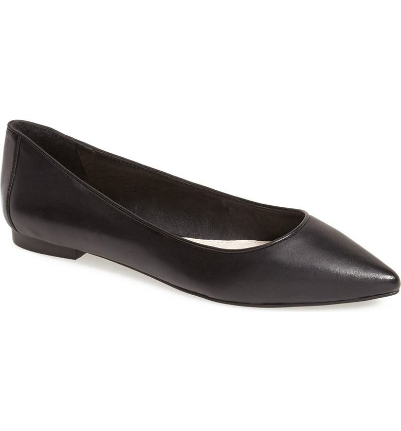 VINCE CAMUTO 'Hasse' Pointy Toe Flat, Main, color, 001