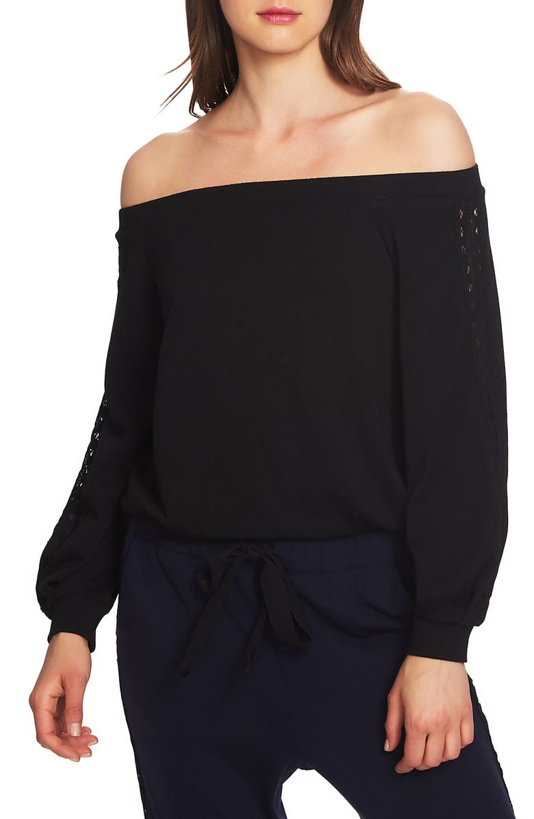 1.STATE Lace Detail Off the Shoulder Top, Main, color, 006