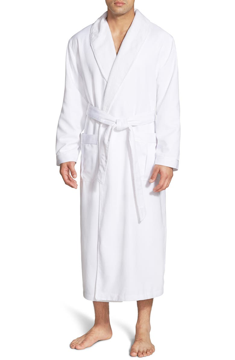 MAJESTIC INTERNATIONAL Fleece Lined Robe, Main, color, WHITE