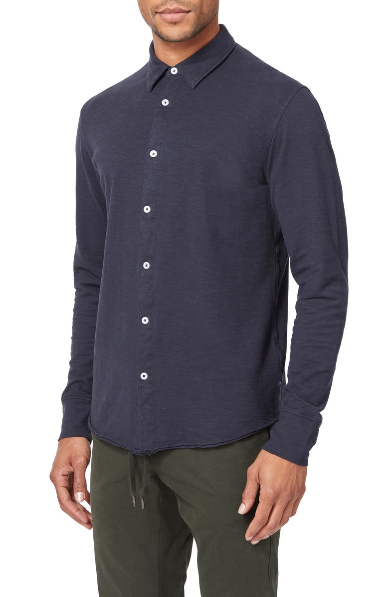 GOOD MAN BRAND Slim Fit Knit Button-Up Shirt, Main, color, 020