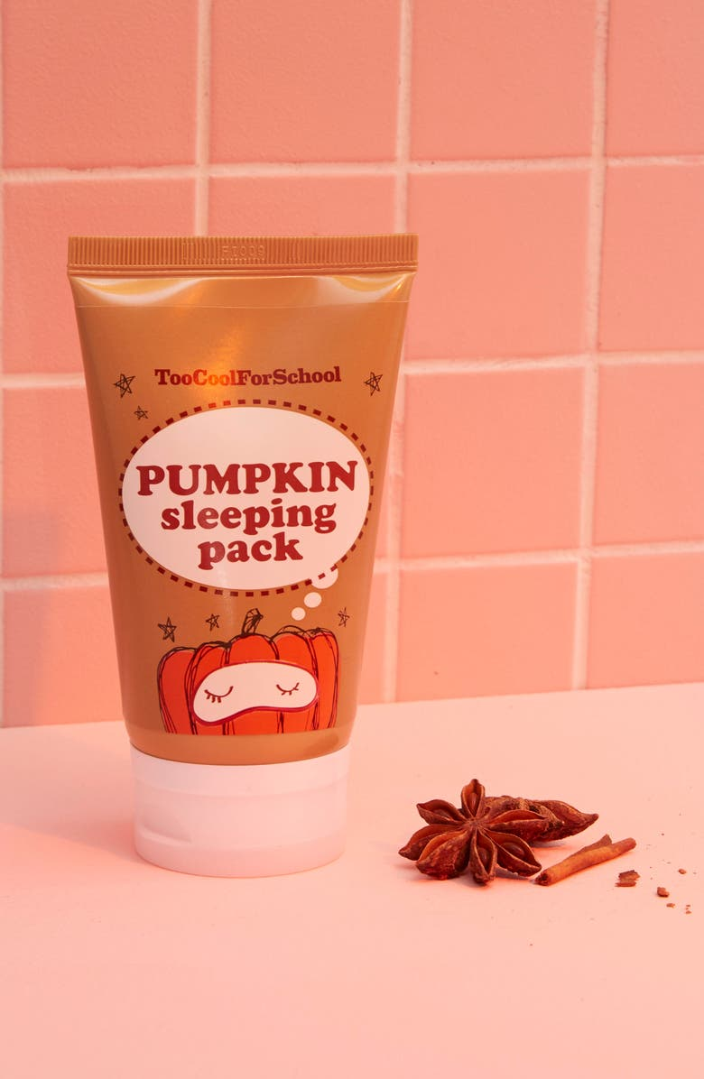 TOO COOL FOR SCHOOL Pumpkin Sleeping Pack Overnight Facial Mask, Main, color, 960