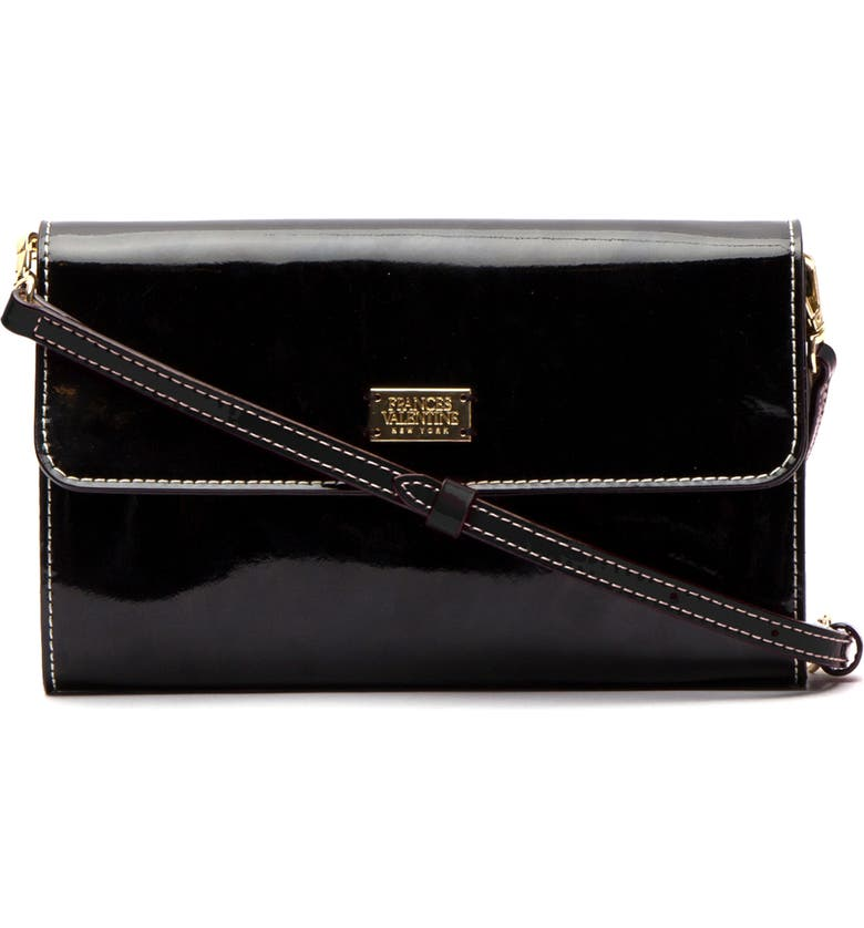 FRANCES VALENTINE Kelly Patent Leather Crossbody Bag, Main, color, 001