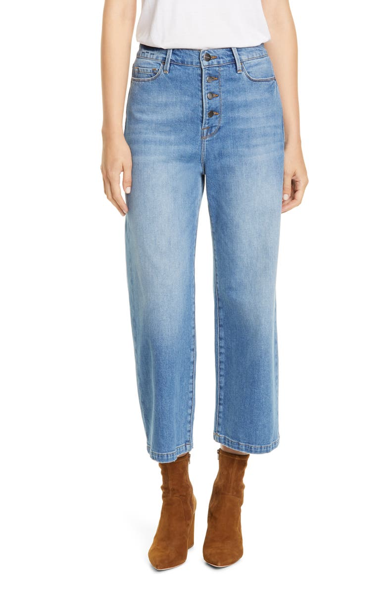 FRAME Ali Button Fly Crop Wide Leg Jeans, Main, color, 450
