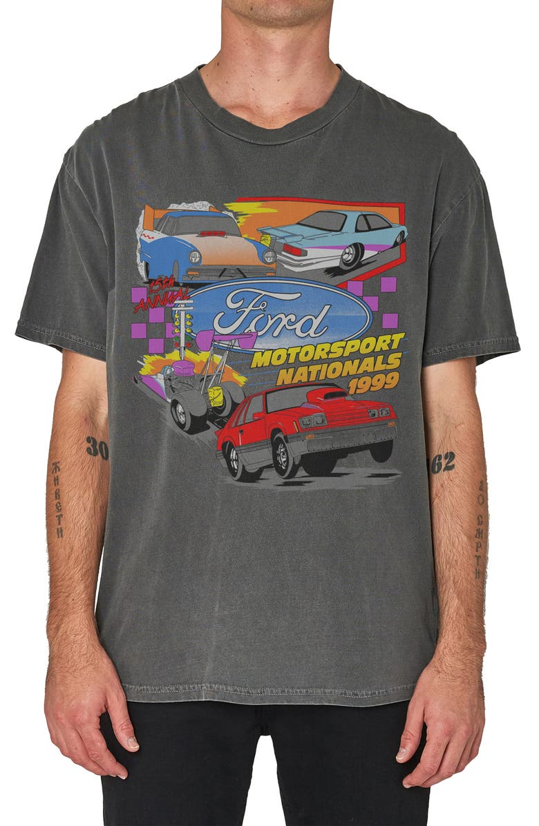 ROLLA'S Rolla's Ford Nationals 1999 Graphic Tee, Main, color, WASHED BLACK