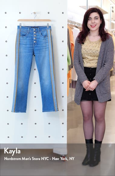 Carolyn High Waist Crop Baby Boot Jeans, sales video thumbnail
