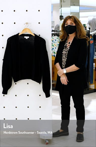 Textured Open Front Cardigan, sales video thumbnail
