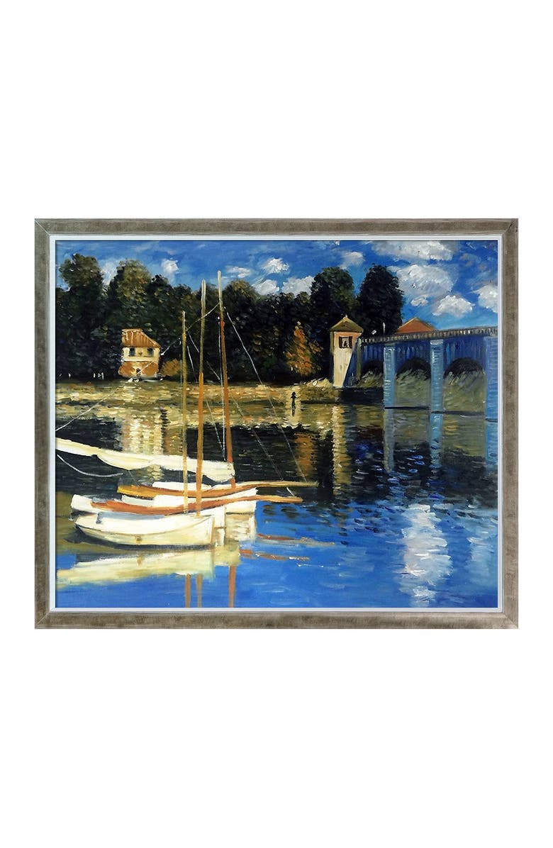 OVERSTOCK ART The Road Bridge at Argenteuil Framed Oil Reproduction of an Original Painting by Claude Monet, Main, color, MULTI