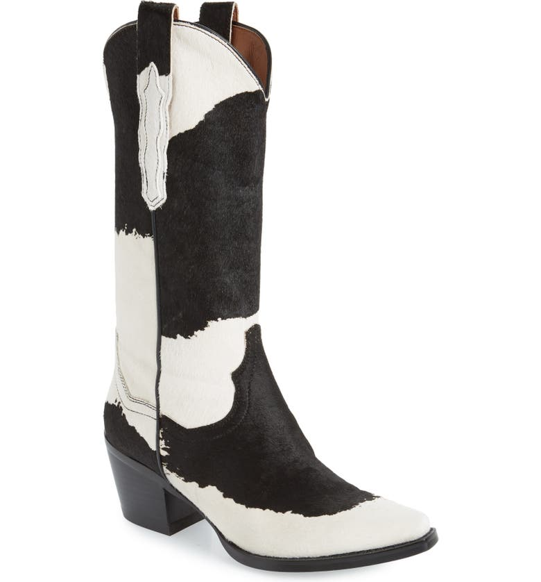 JEFFREY CAMPBELL Dagget Genuine Calf Hair Western Boot, Main, color, 208