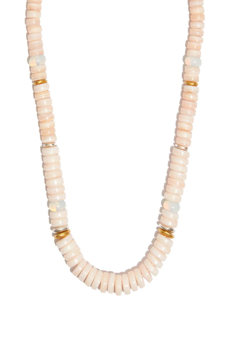 MADEWELL Mother-of-Pearl Beaded Necklace, Main, color, PINK SHELL MULTI