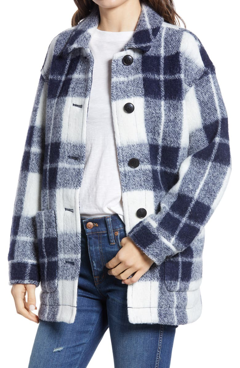 MADEWELL Women's Walton Colleton Plaid Shirt Jacket, Main, color, 905