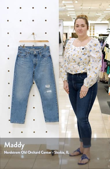 501<sup>®</sup> Distressed Crop Jeans, sales video thumbnail