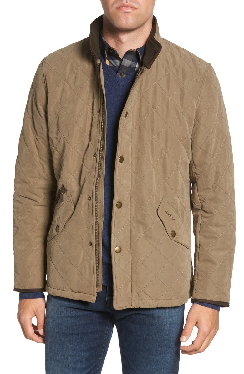 BARBOUR Bowden Quilted Jacket, Main, color, LIGHT OLIVE