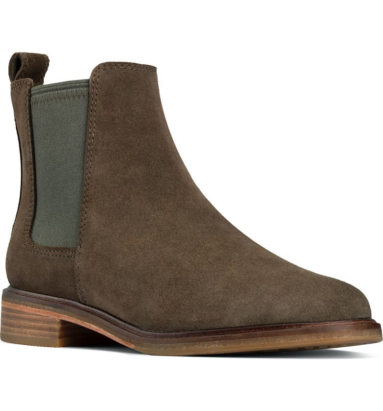 CLARKS<SUP>®</SUP> Clarkdale Arlo Boot, Main, color, DARK OLIVE SUEDE