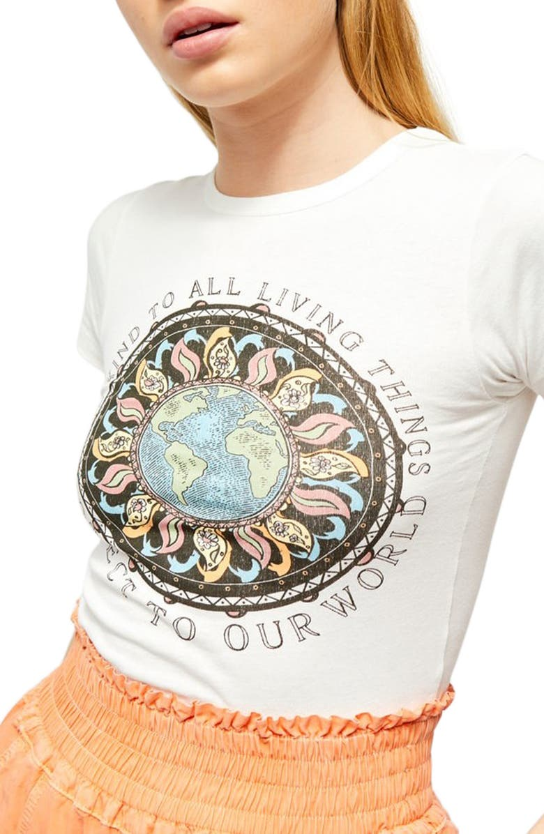 BDG URBAN OUTFITTERS Protect Our World Graphic Baby Tee, Main, color, 900