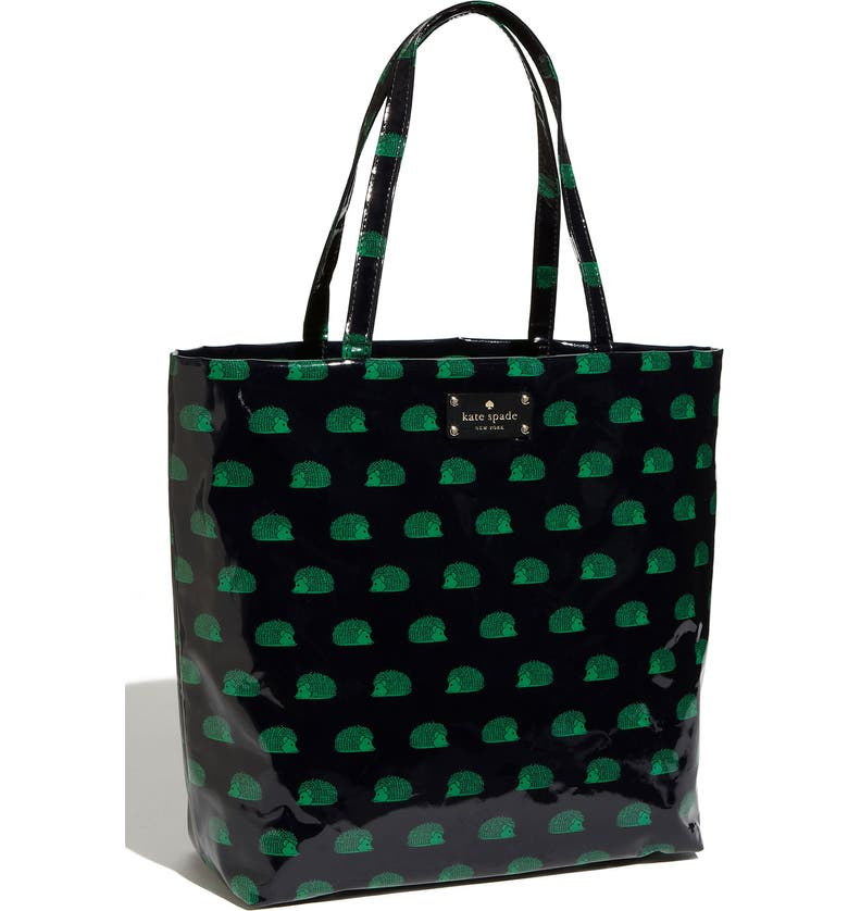 KATE SPADE NEW YORK 'daycation chocolate' coated canvas bon shopper, Main, color, 436