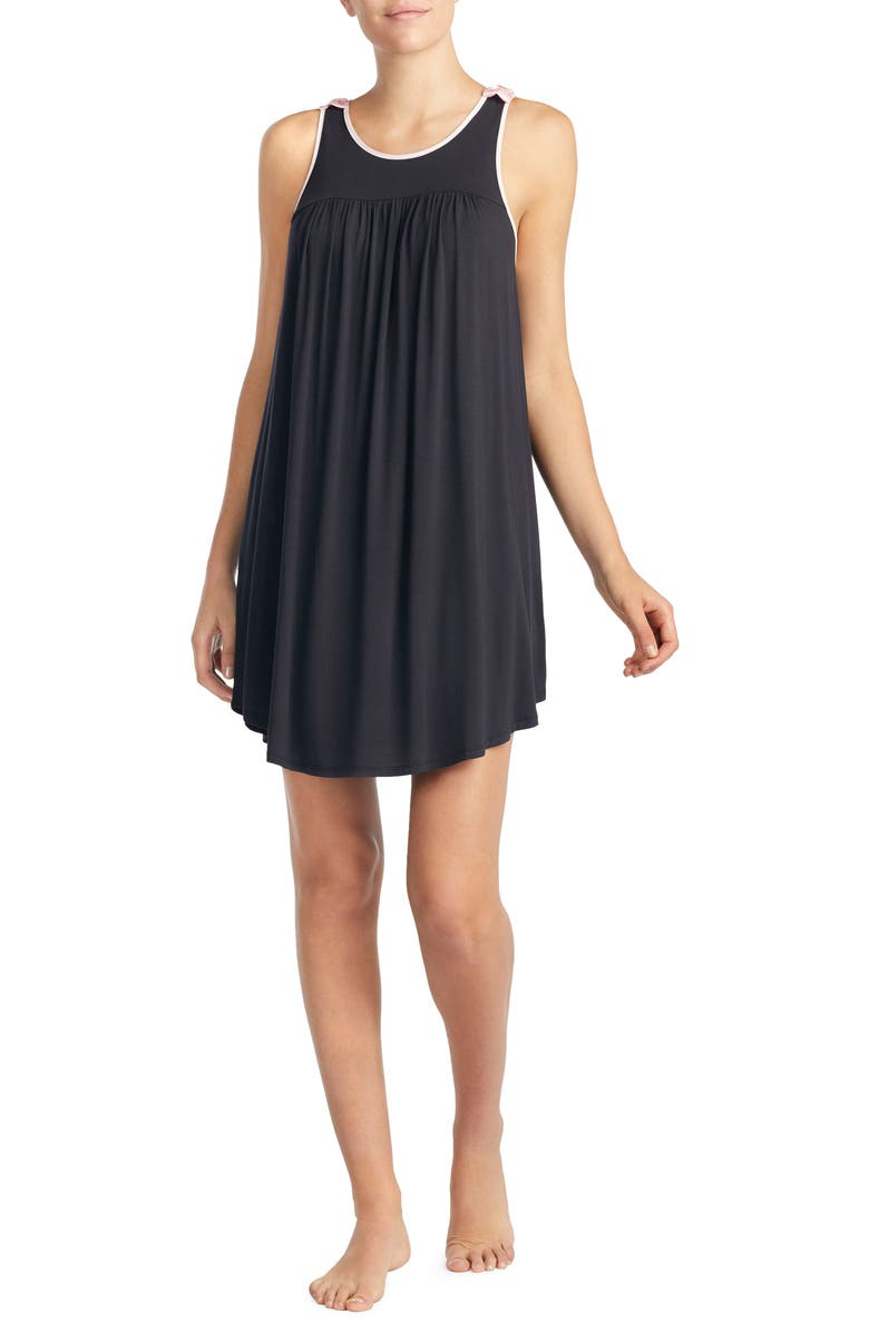 KATE SPADE NEW YORK jersey chemise, Main, color, BLACK