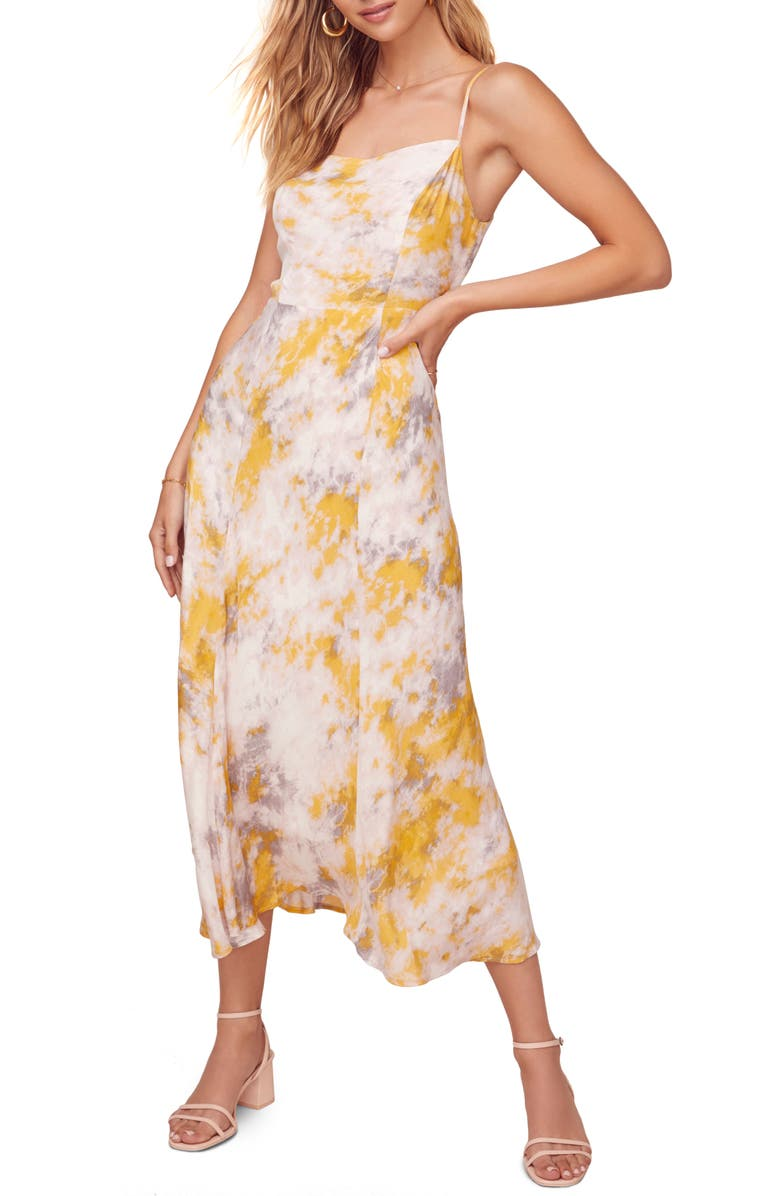 ASTR THE LABEL Journey Sleeveless Printed Maxi Dress, Main, color, 650