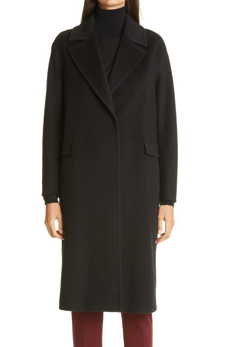 MAX MARA Bairo Wool Coat, Main, color, BLACK