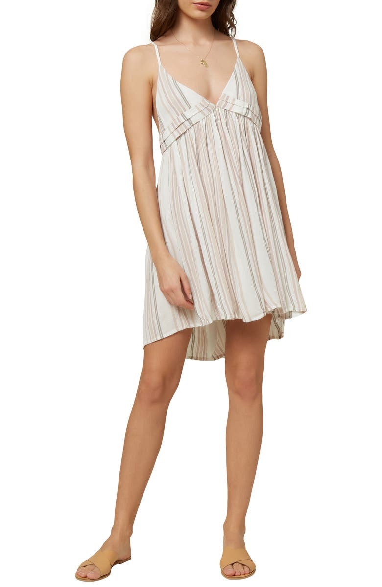 O'NEILL Saltwater Solids Stripe Cover-Up Tank Dress, Main, color, DAWN