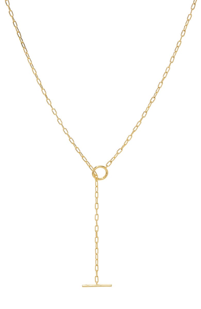 GORJANA Frankie Lariat Necklace, Main, color, GOLD