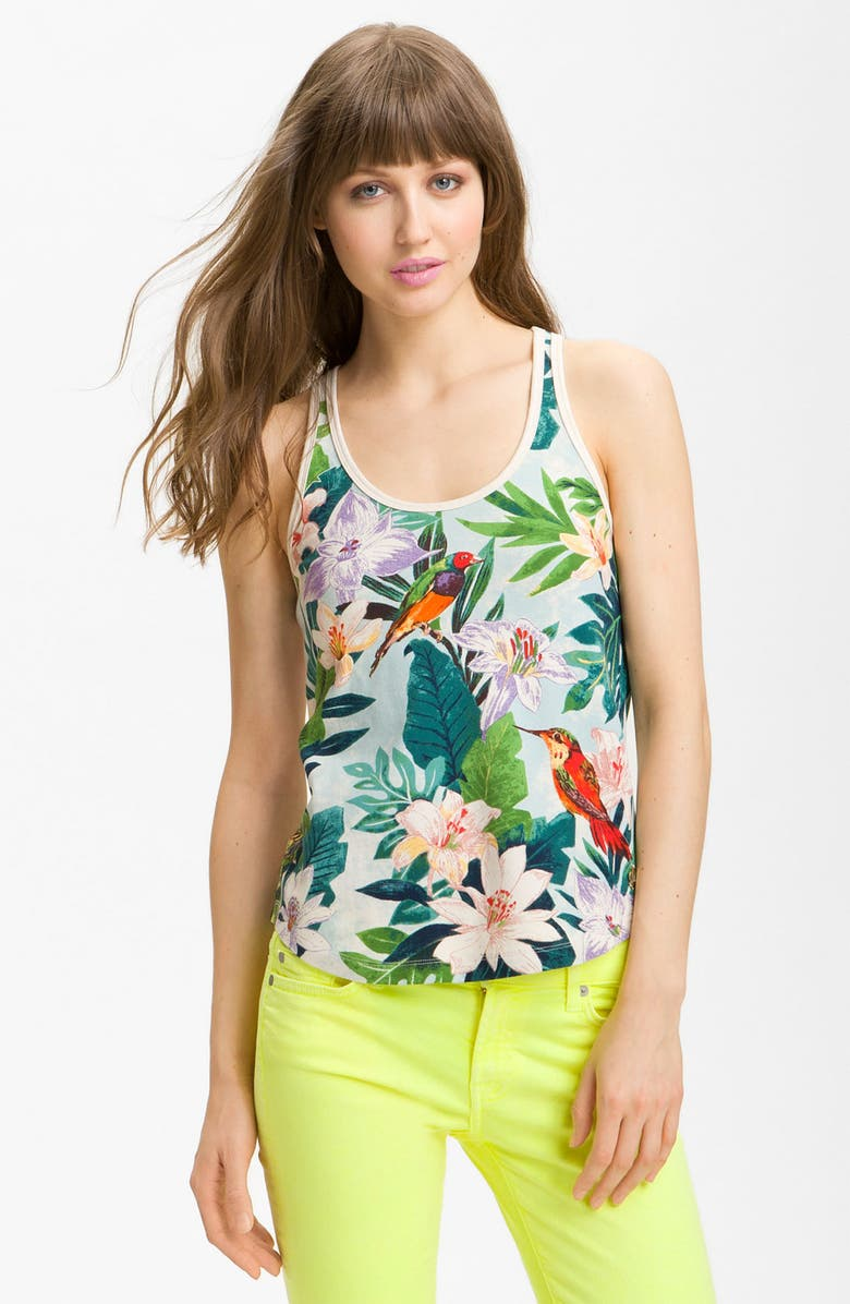 JUICY COUTURE Tropical Print Tank, Main, color, 400