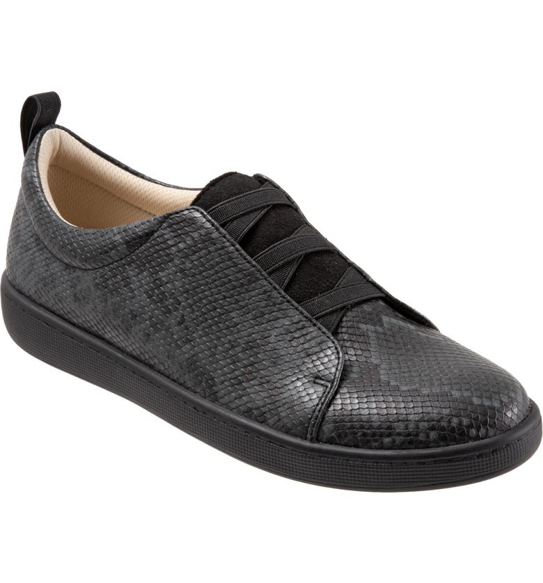 TROTTERS Avrille Sneaker, Main, color, DARK GREY LEATHER