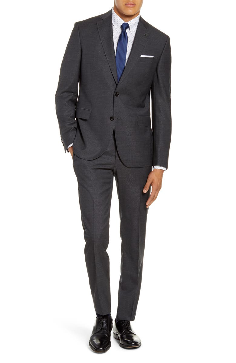 TED BAKER LONDON Roger Trim Fit Solid Wool Suit, Main, color, 020