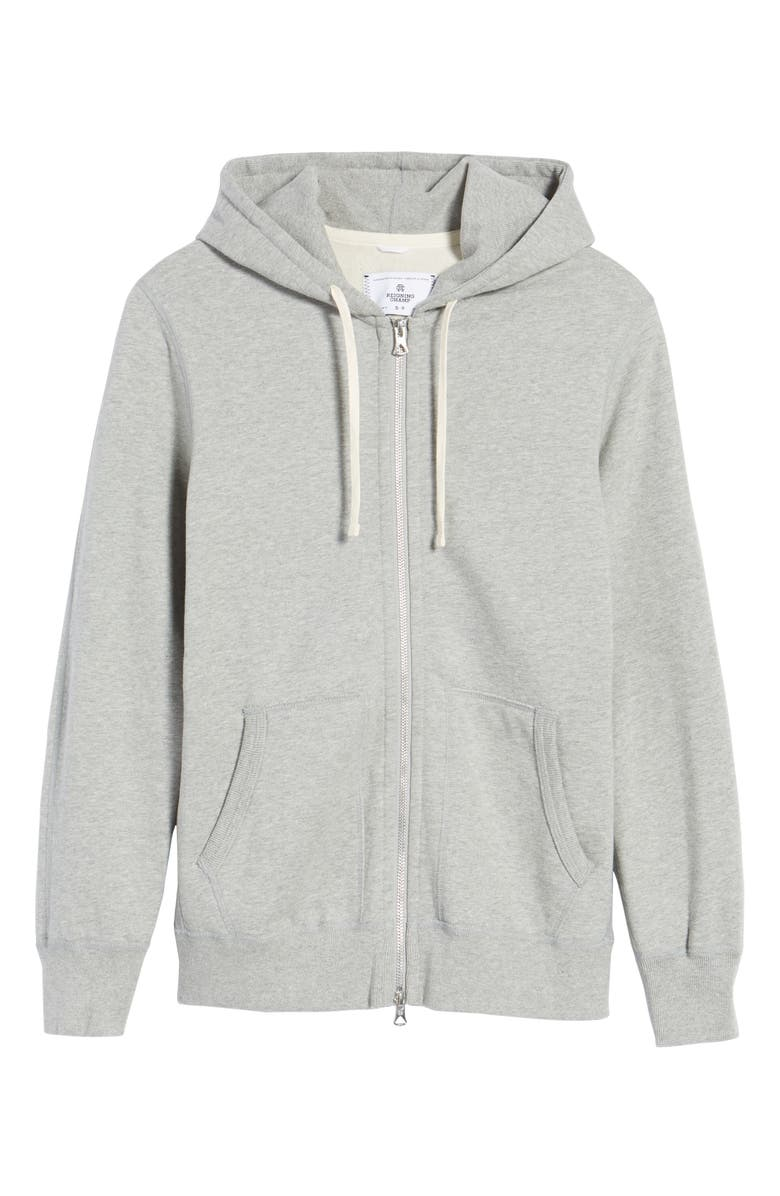 REIGNING CHAMP Trim Fit Full Zip Hoodie, Main, color, 060