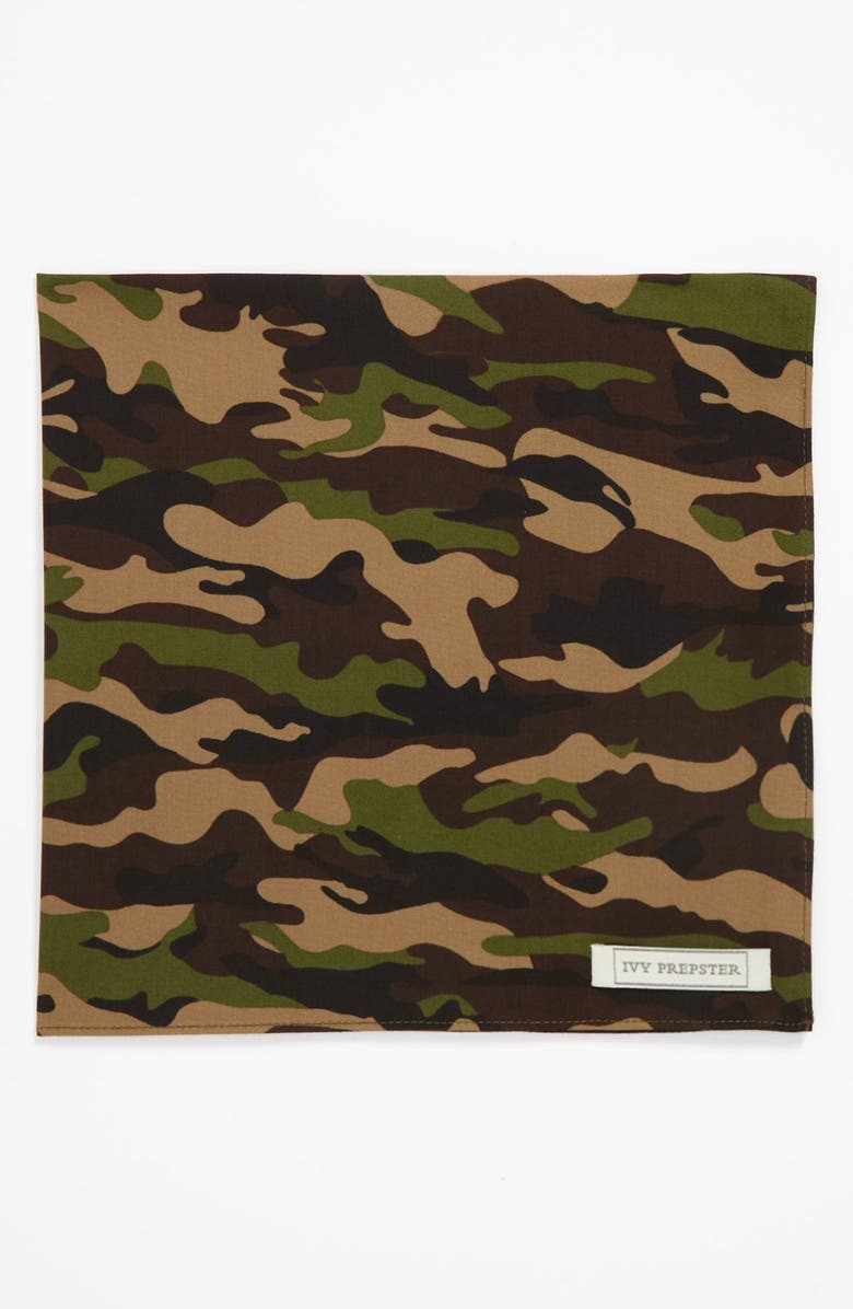 IVY PREPSTER 'Reflect Camouflage' Pocket Square, Main, color, 900