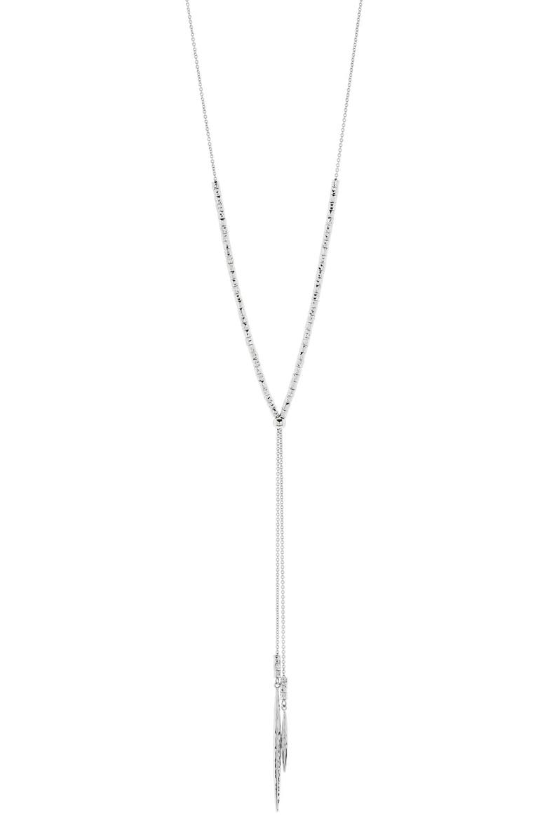 GORJANA Laguna Adjustable Lariat Necklace, Main, color, SILVER