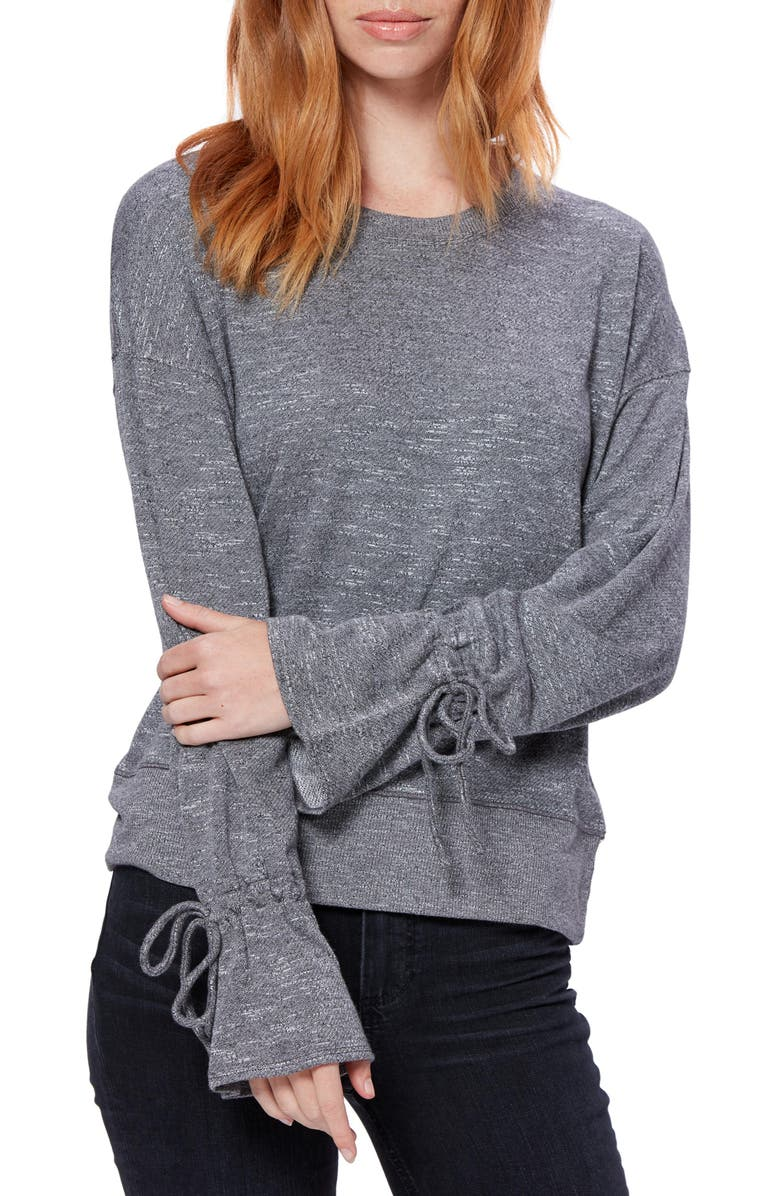 PAIGE Keily Tie Cuff Long Sleeve Top, Main, color, 020