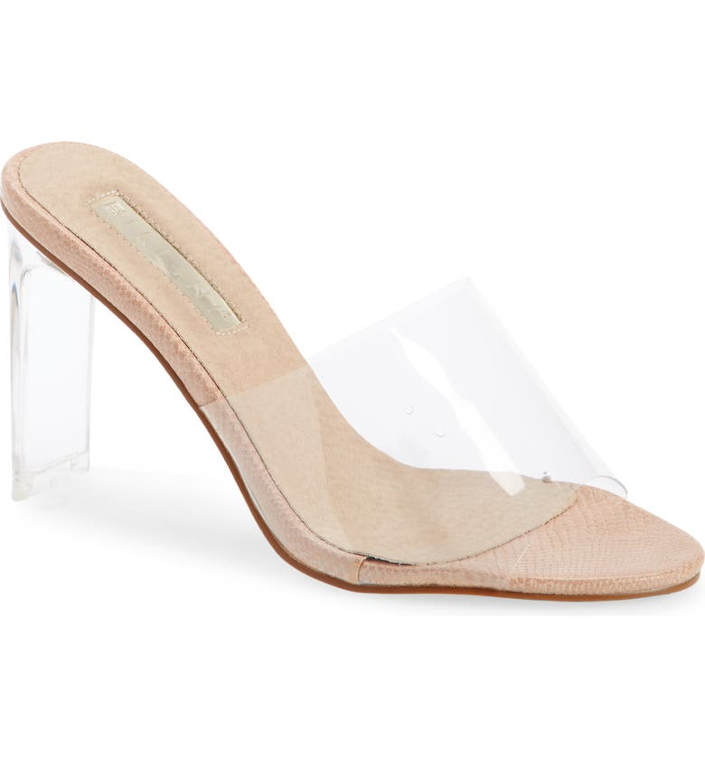 BILLINI Saskia Transparent Block Heel Sandal, Main, color, BLUSH SNAKE
