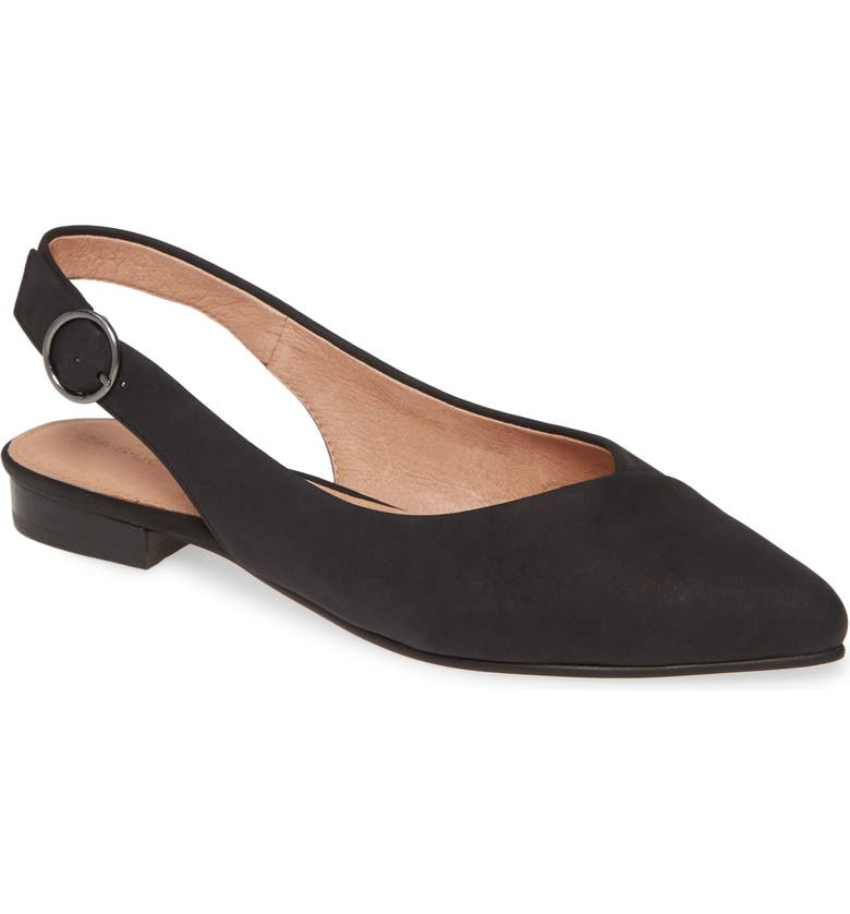 CASLON<SUP>®</SUP> Lexie Pointed Toe Slingback Flat, Main, color, 001