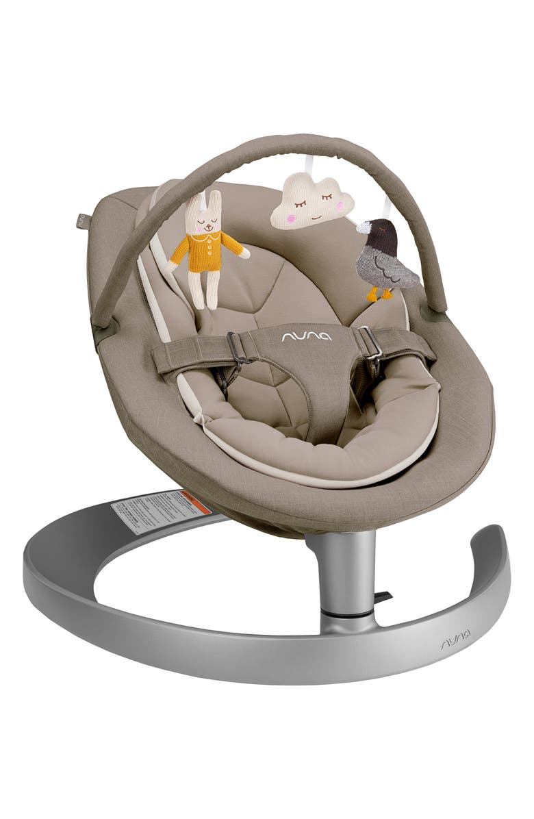 NUNA LEAF<sup>™</sup> grow Baby Seat with Toy Bar, Main, color, BISCOTTI
