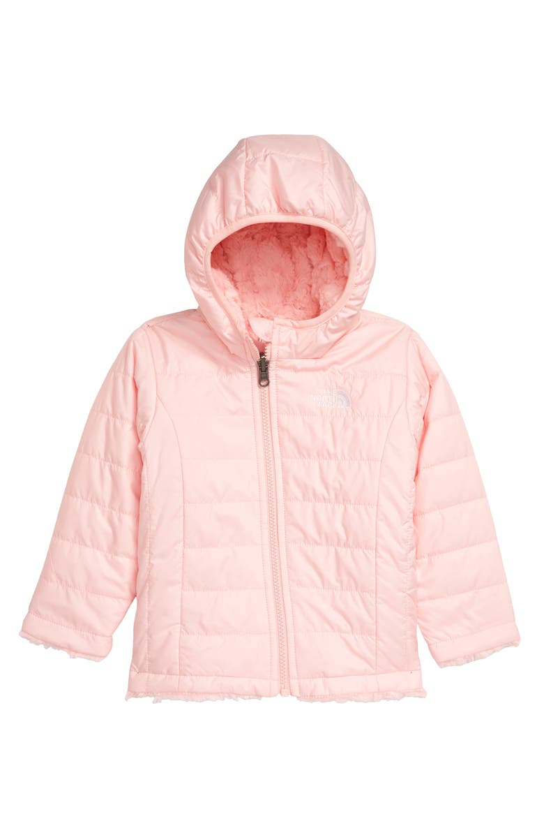 THE NORTH FACE Mossbud Reversible Water Repellent Jacket, Main, color, PINK SALT