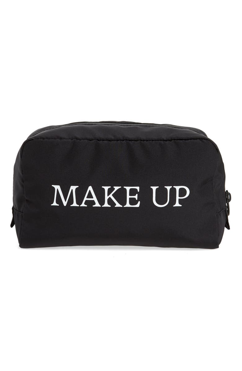 OFF-WHITE Makeup Cosmetics Pouch, Main, color, 001