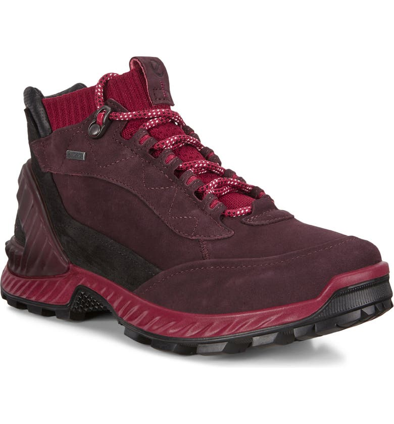 ECCO ExoHike Gore-Tex<sup>®</sup> Waterproof Hiking Shoe, Main, color, FIG/ SANGRIA LEATHER/ FABRIC
