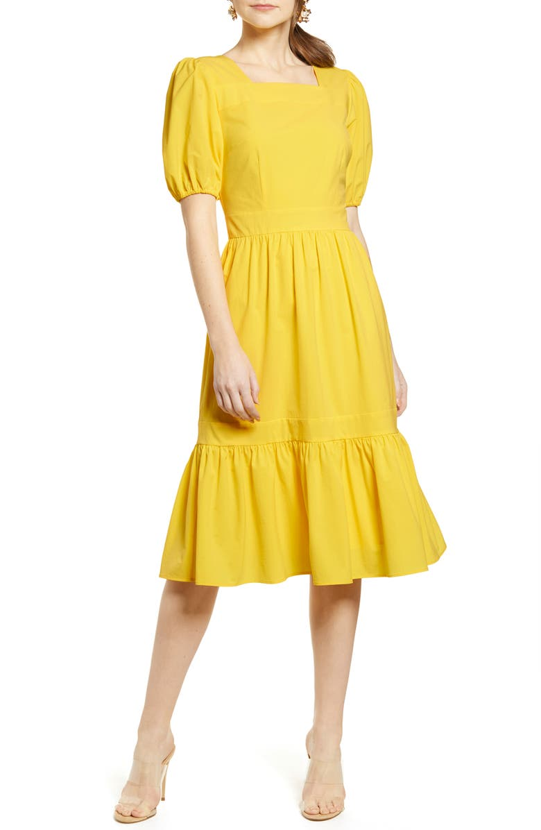 RACHEL PARCELL Puff Sleeve Dress, Main, color, 720