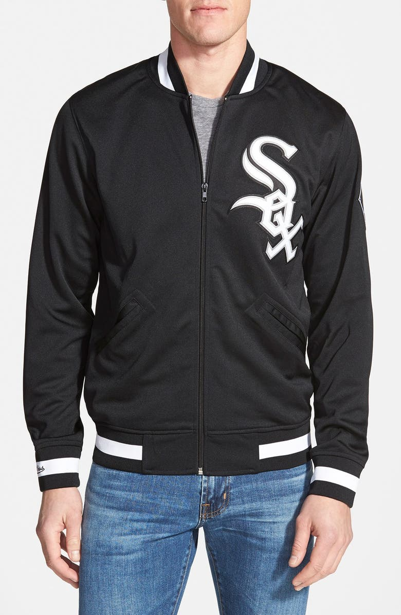 MITCHELL & NESS 'Authentic BP - Chicago White Sox' Double Knit Baseball Jacket, Main, color, 001