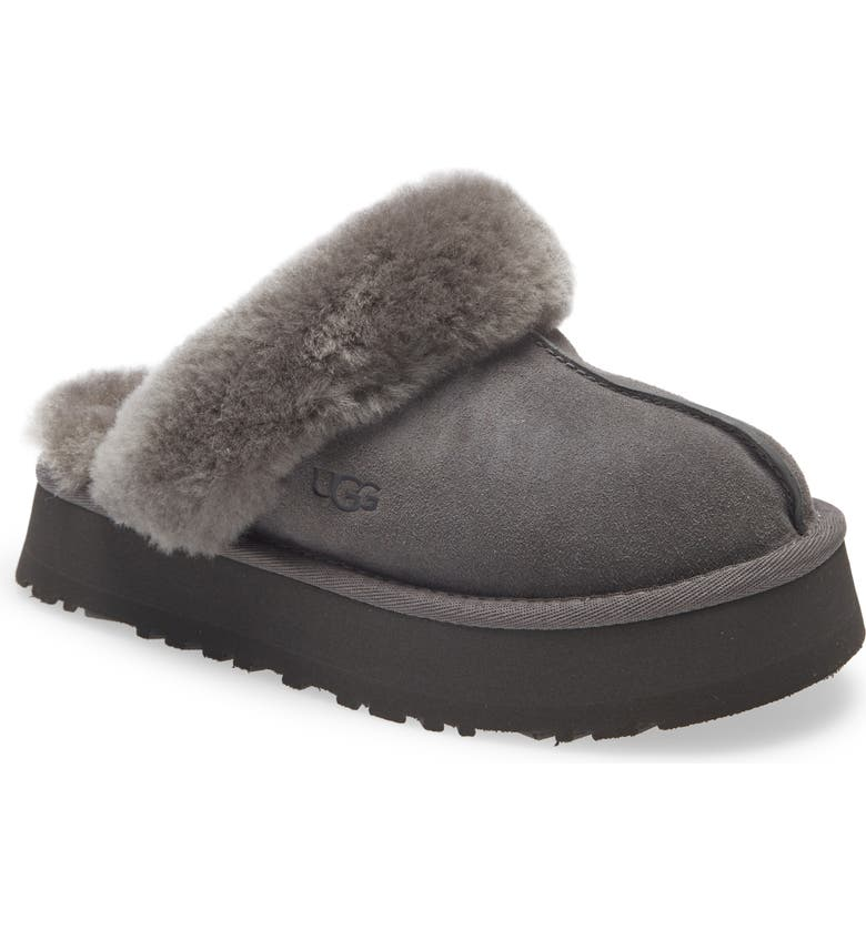 UGG<SUP>®</SUP> Disquette Slipper, Main, color, CHARCOAL