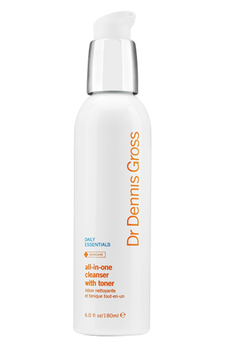 DR. DENNIS GROSS Skincare All-in-One Facial Cleanser with Toner, Main, color, NO COLOR