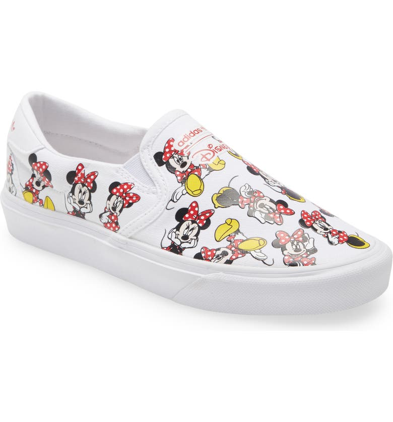 ADIDAS Court Rally x Disney Slip-On Sneaker, Main, color, FOOTWEAR WHITE/ SCARLET