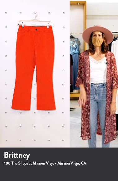 x Atlantic-Pacific Velveteen Kick Flare Pants, sales video thumbnail