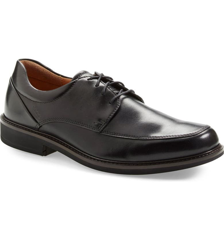ECCO Holton Apron Toe Derby, Main, color, BLACK