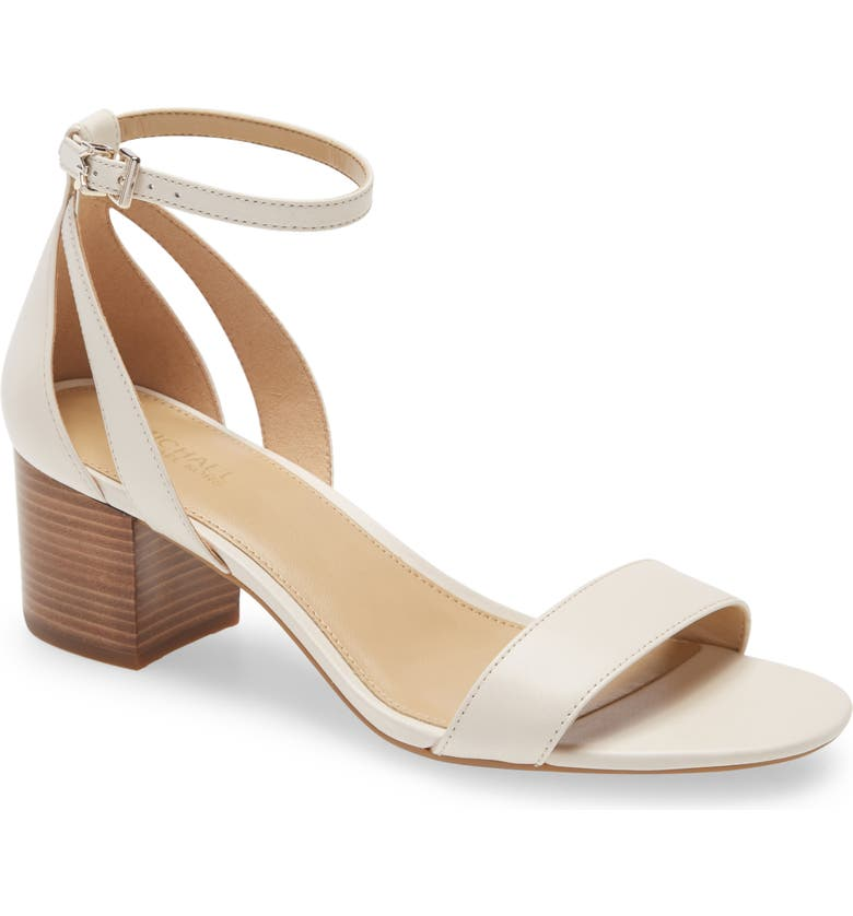 MICHAEL MICHAEL KORS Cardi Flex Ankle Strap Sandal, Main, color, LIGHT CREAM LEATHER
