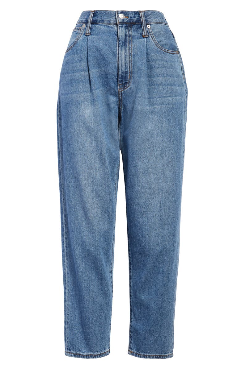 MADEWELL Baggy Pleated Tapered Jeans, Main, color, JEWELL WASH