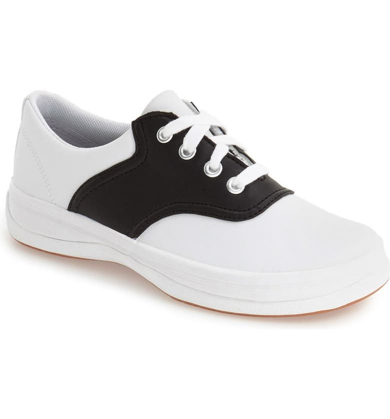 KEDS<SUP>®</SUP> 'School Days II' Oxford, Main, color, WHITE/ BLACK LEATHER