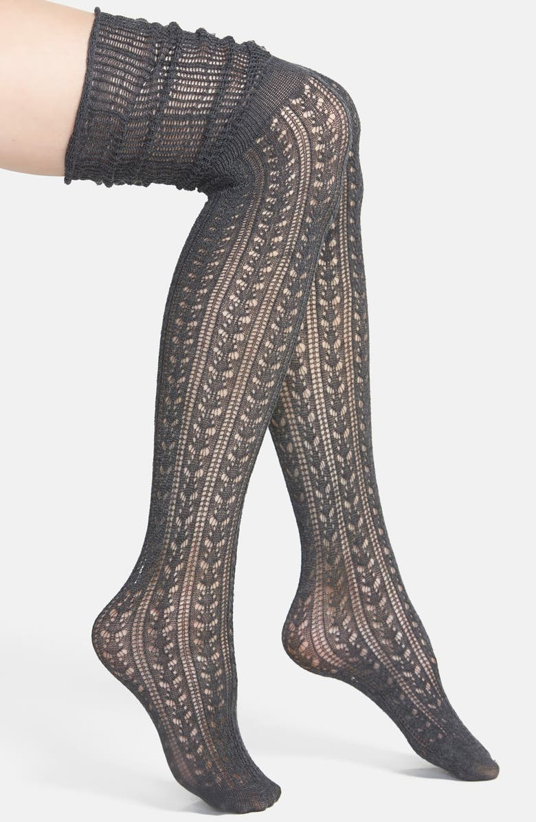 FREE PEOPLE 'Bowery' Over The Knee Socks, Main, color, 055